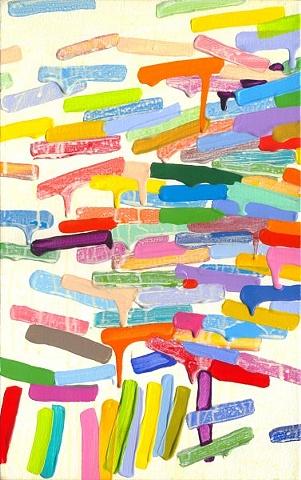 Martina Nehrling, Umpteen Worries Blown Away, 16H x 10L, acrylic on canvas, 2010