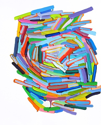 Martina Nehrling, Mixed Use, acrylic on paper, 2012