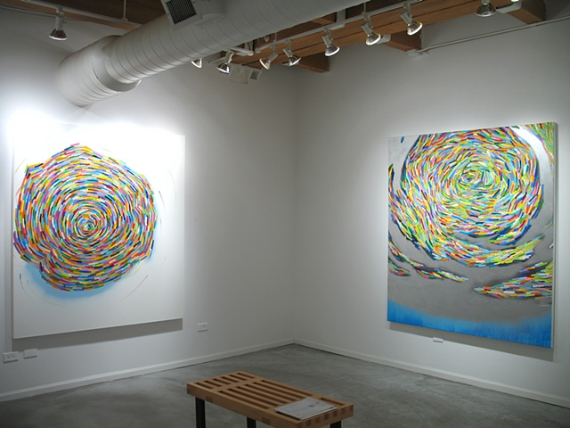 """Martina Nehrling Installation view of """"In Defense of Wondering"""", a solo exhibition at Zg Gallery, 2012"""