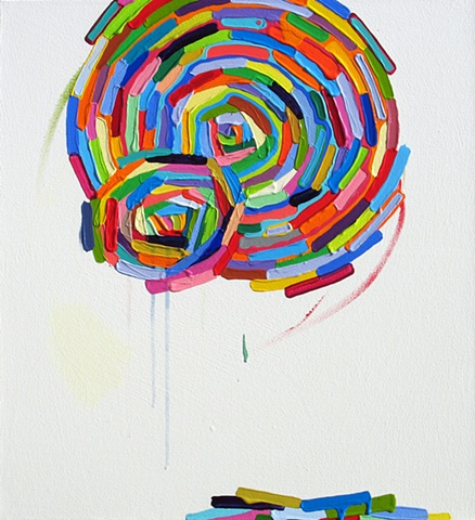 Martina Nehrling, Truth and Jest, 24H x20L in., acrylic on canvas, 2011