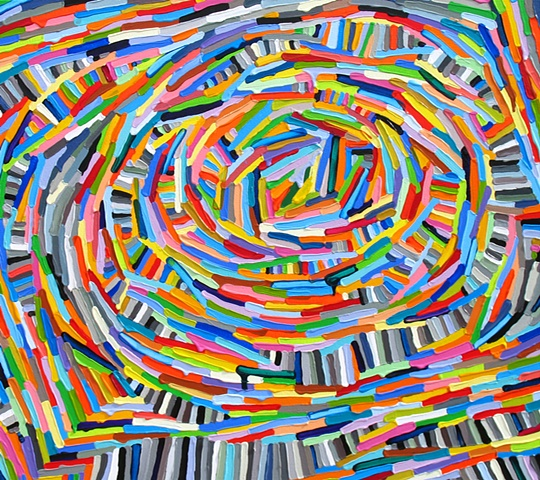 Martina Nehrling, Rabble and Rant, 32H x 36L in., acrylic on canvas, 2012