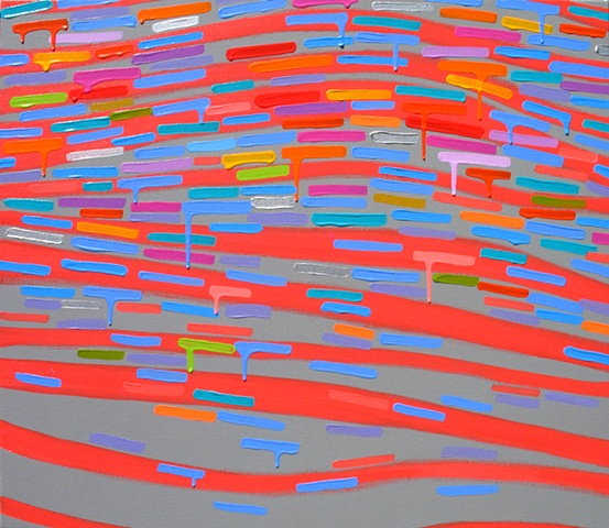 Martina Nehrling, Warble, acrylic on canvas, 26H x 30L in., 2008