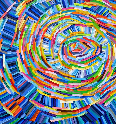 Martina Nehrling, Rave, 30H x 28L inches, acrylic on canvas,  2012