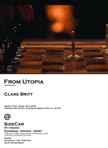 'From Utopia' - New work by Clare Britt