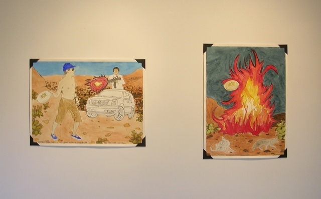 """Self Portrait-Final Battle w/ Lame-Ass•California•USA"", 2008 and ""California"", 2008, Danny Hein"