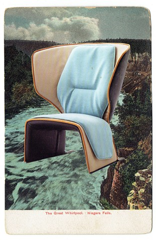 We simply represent harmony and progress (Cassina chairs, Niagara Falls and Casco Bay) 1950 / 2016