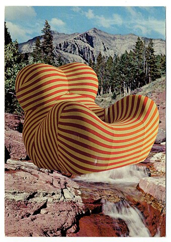The Donna reemerged this winter (Gaetano Pesce chair and Red Rock Canyon) 1987 / 2017