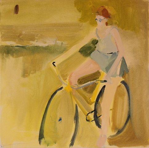 A Lady on Her Bike
