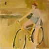 A Lady on Her Bike