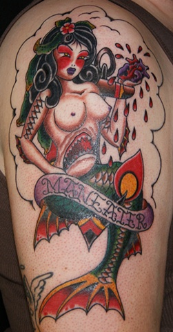 man eater mermaid tattoo - anthony filo rochester