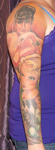 noir pin-up style sleeve anthony filo rochester