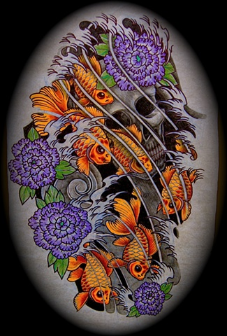 tattoo art japanese asian sleeve anthonyfilotattoo rochester