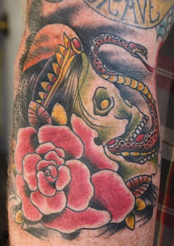 hag skull and snake tattoo  anthony filo rochester