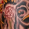 erics goat head tattoo - anthony filo