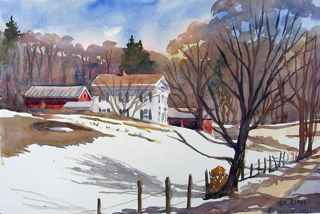 Lathrop Lane Farm in Winter