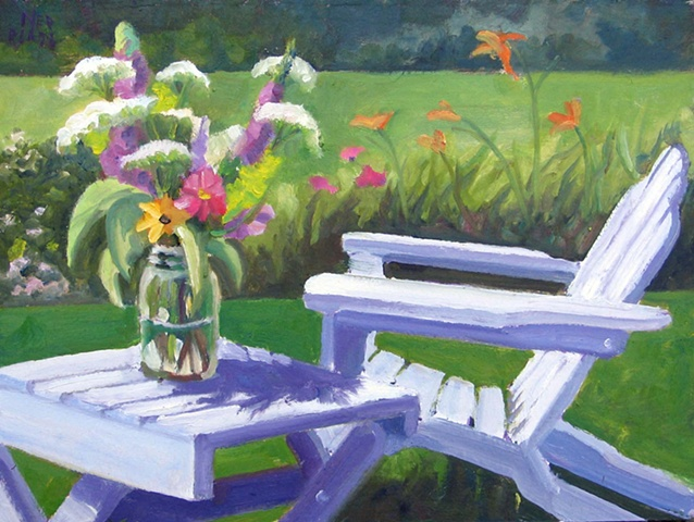 Queen Anne's Lace and Adirondack Chair