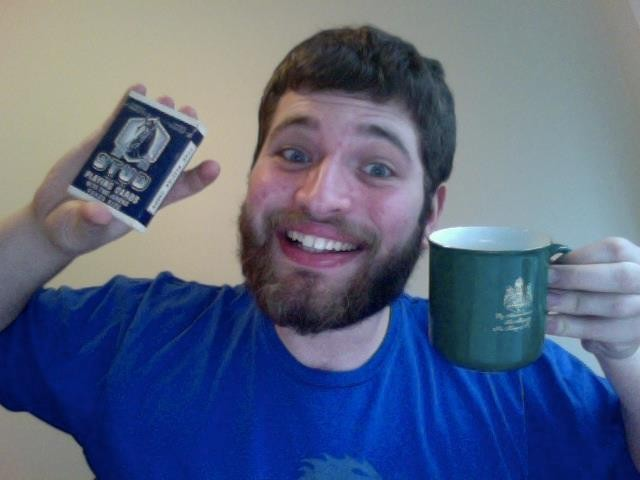 Rescued: Stud playing cards and King of Sweden Mug with Zach in Syracuse, NY