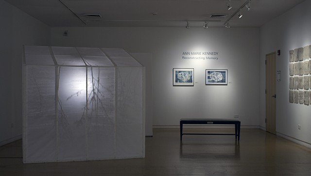 Installation at Waterworks Visual Arts Center, Salisbury, NC, as part of the Sense of Place exhibition.