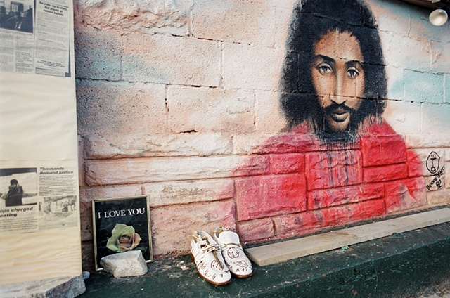 malice green mural Detroit,Mi 1991