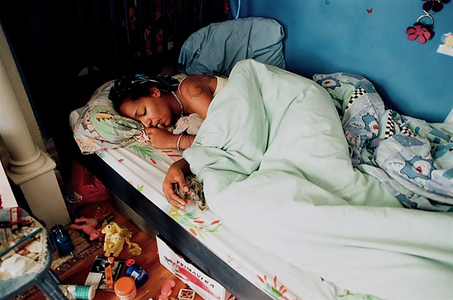 Ulla sleeping Bryant st house 1998