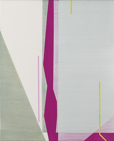 Untitled (grey and pink abstraction)
