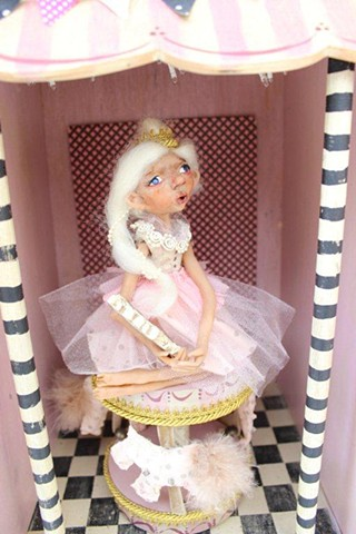 DOLL CREEPY STEAMPUNK LISA OCAMPO ASSEMBLAGE CHILDREN CIRCUS