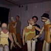The Judges- Life-Sized Body Puppets in process for Hard Times Hit Parade with The Dusty Flowerpot Cabaret. February-March 2011