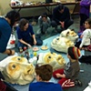 Giant Puppets Decorating Workshop for Purim Celebrations at Beth Israel Congregation. March 4, 2012