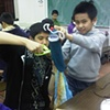 Sock puppet workshop for youth at South Vancouver Neighborhood House