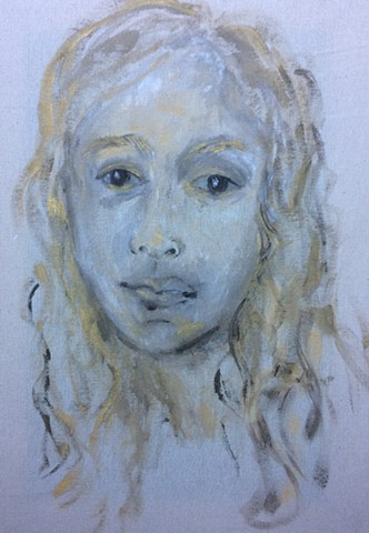 Golden Eliana, 12 in x 17 in