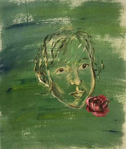 Flower Boy Aryeh, 24 in x 28 in