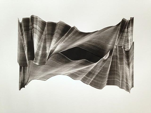 gelatin plate print monotype collage work on paper KB Breiseth Kristin Breiseth original work on paper abstract Boston artist