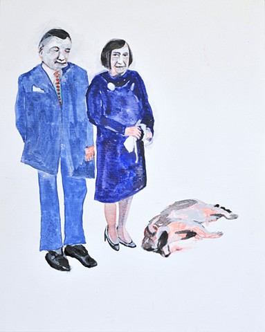 Ayn Rand with Dead Raccoon and Friend