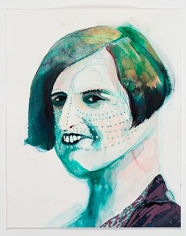 Portrait of Ayn Rand with Facial Scarification:1