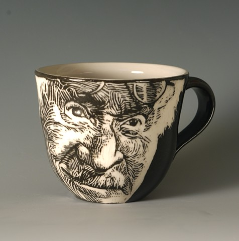 Teacup with Carl Jung (from Tea Service for Kings of the Subconscious)