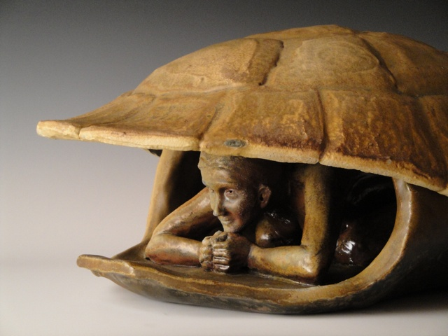 Woman in Turtle