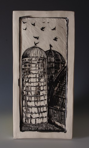 Silos with Pigeons