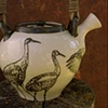 Teapot with Sand-hill Cranes