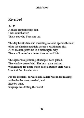 "the poem ""Riverbed"" from Small Poems 6  by Gilles Goyette"