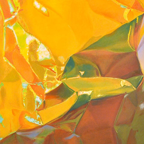 oil painting gold iridescent photorealism