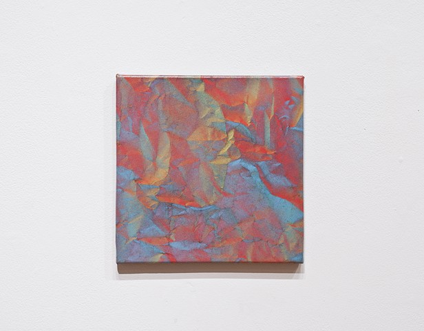 Untitled (red blue square)