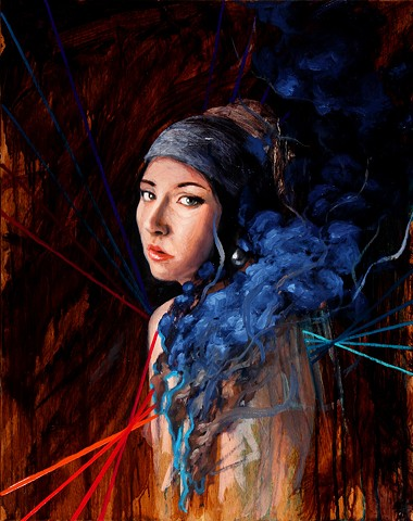 Girl with a Pearl Earring who is in Flames