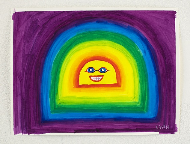 Happy Rainbow. 18x24in. acrylic on paper