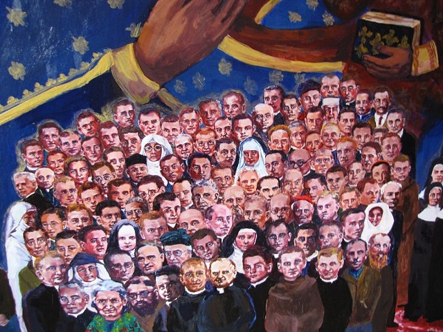 Polish Martyrs of WWII (detail)