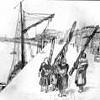 dock workers sketch