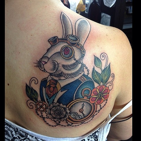 Steampunk white rabbit!