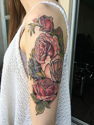Floral arm. 2 sessions.