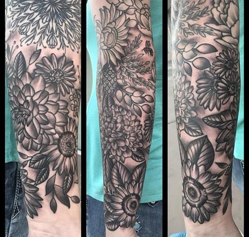 Flower sleeve additions