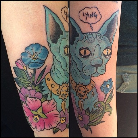 Saga Cat Comic Tattoo