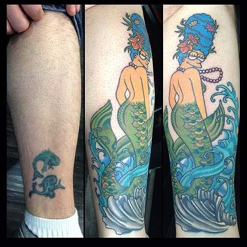 Cover Up- Marge Simpson
